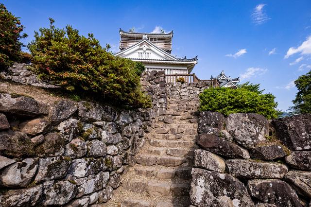越前大野城と石垣
