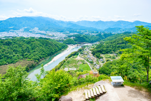 岐阜県・苗木城跡からの眺め
