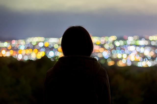 兵庫の夜景と彼女