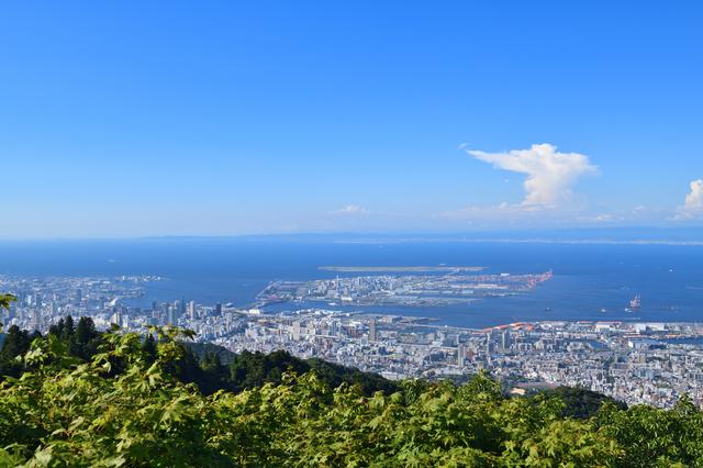 六甲山・掬星台からの景色