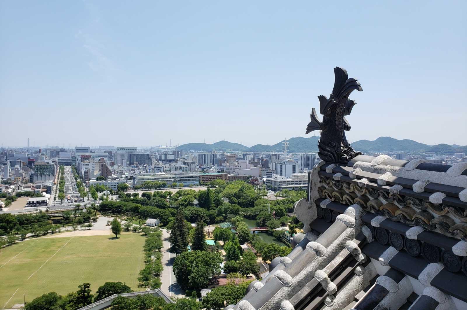 姫路城・天守閣からの眺め