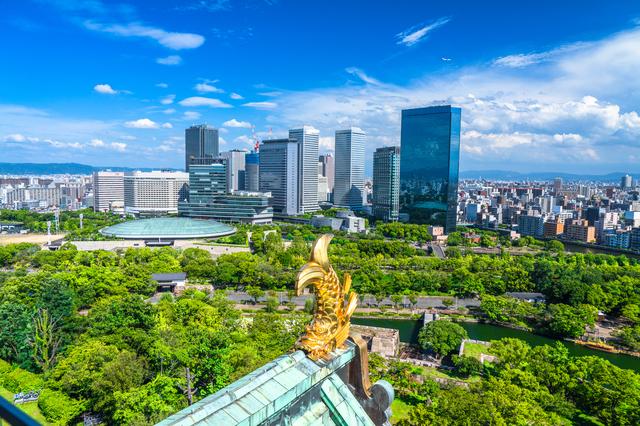 大阪城・展望台からの眺め