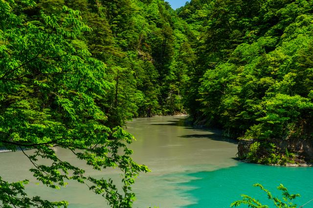静岡・寸又峡と寸又川