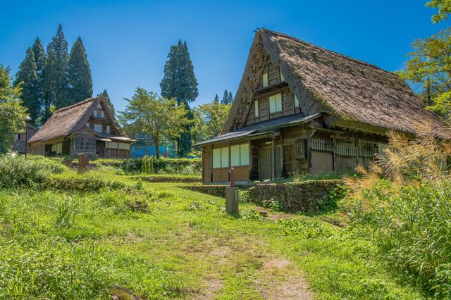 夏の相倉合掌造り集落(富山)