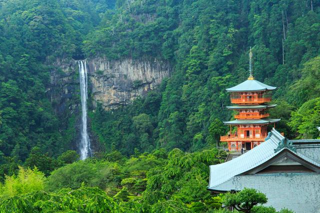 熊野那智大社と滝