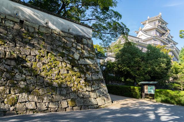 天守閣と石垣(岡山城)